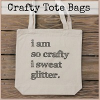 Fun Tote Bags for Craft People on Etsy